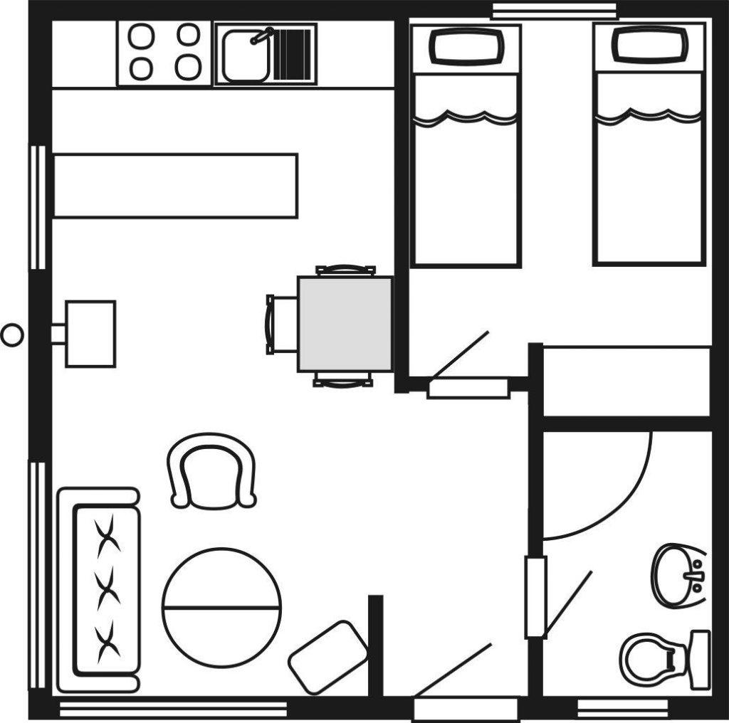 Grundriss Untere Hütte